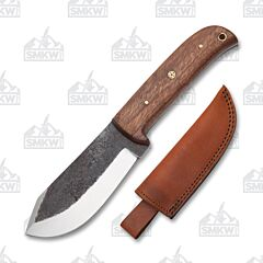 "Carbon Steel 9"" Mosaic Pin Wood Handle Hunter"