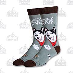 Oooh Yeah! Getting Husky Men's Crew Socks