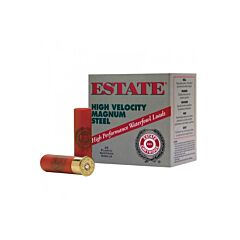 "Estate High Velocity 12 Gauge 3"" Max 1-1/4oz #3 Steel 25 Rounds"