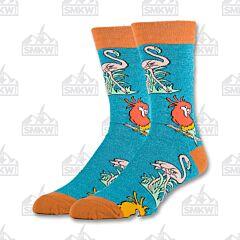 Oooh Yeah! Im-Peck-Able Men's Crew Socks