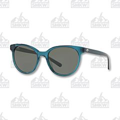 Costa Isla Shiny Deep Teal Crystal Sunglasses