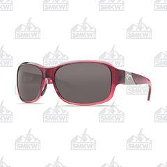Costa Inlet Sunglasses Pomegranate Fade Plastic Frame Gray Polarized Plastic Lenses