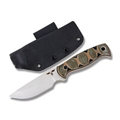 """GTI Custom 9"""" Fixed Blade Hunter with Tri-Color G-10 Handle and Satin Finish 154CM Stainless Steel 4.25"""" Plain Edge Drop Point Blade Model HUNTER2"""