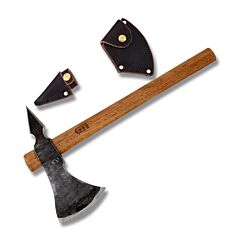 "GTI Custom Rogers Ranger Hawk with Wood Handle and Forged Finish 1095 Carbon Steel 9.375"" x 3.875"" Plain Edge Axe Head Model RRH"