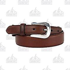 Justin Boots Men's Basic Western Belt Brown