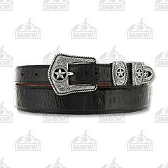Justin Boots Men's Country Croc Belt Black