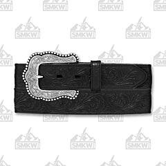 Justin Boots Men's Layla Leather Belt Black