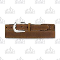 Justin Boots Men's Taper Dress Belt Brown