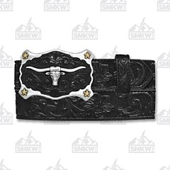 Justin Boots Men's Classic Longhorn Western Belt Leather Black