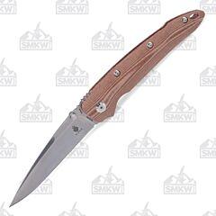 Kizer Sliver Liner Lock T6 Brown