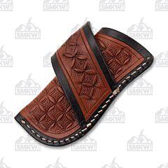 Ranger Belt Company Brown Tooled Leather Sheath Dark Brown