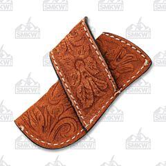 Ranger Belt Company Cognac Floral Sheath with Belt Loop