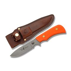 "Knives of Alaska Trekker Elk Hunter with Orange Sure Grip Handles and D2 Tool Steel 4.50"" Drop Point Plain Edge Blades Model 00177FG"