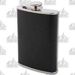 Maxam 8oz Stainless Steel Flask with Black Wrap