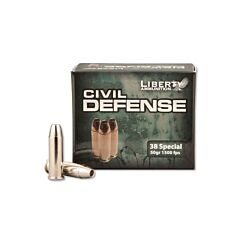 Libery Civil Defense 38 Special 50 Grain Fragmenting Hollow Point 20 Rounds