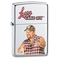 Zippo Larry the Cable Guy Chrome Lighter