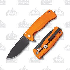 LionSteel SR22A OB Orange Aluminum Black Sleipner Stainless Steel