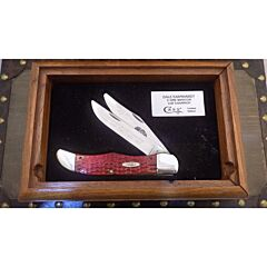 Case Dale Earnhardt 5-Time Winston Cup Champion Folding Hunter Red Bone Handles TruSharp Surgical Steel