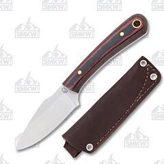 L.T. Wright Knives Great Plainsman D2 Tool Steel Red/Black Micarta Handle