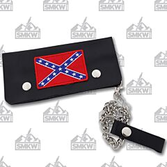 Maxam Be A Rebel Double Snap Trucker Wallet with Chain