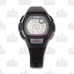 Casio Women's Step Tracker Runner Series Black and Grey Watch