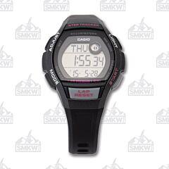 Casio Women's Step Tracker Runner Series Black and Grey Watch