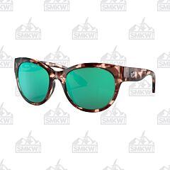 Costa Maya Shiny Tortoise Shell Sunglasses Green Mirror