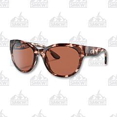 Costa Maya Shiny Coral Tortoise Sunglasses Copper Mirror