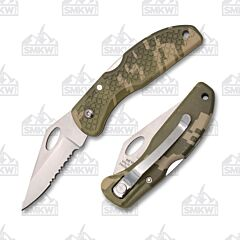 Meyerco Lockback Knife with Camo ABS Handle
