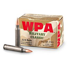 Wolf Military Classic 223 Remington 62 Grain Full Metal Jacket 20 Rounds