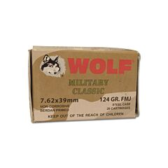 Wolf Military Classic 7.62x39mm 124 Grain Full Metal Jacket 20 Rounds