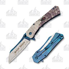 Dark Side Blades Blue Tinite Black Widow Framelock DS-A071BL