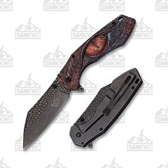 Master Cutlery Dark Side Dragon Eye Cleaver Red
