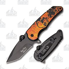 Master Cutlery Dark Side Skull Folder Orange