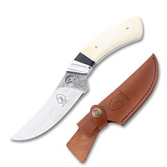 Elk Ridge Fixed Blade Skinner Stainless Steel Blade White Bone Handle