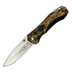 "Elk Ridge Manual Folding Knife with Camo Nylon Fiber Handle and Stainless Steel 3.25"" Drop Point Blade Model ER-126CA"