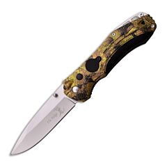 Elk Ridge Camo Folding Knfie with Camo Nylon Fiber Handle and Stainless Steel Blade Model ER-126GC