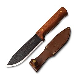 Master Cutlery Elk Ridge Medium Primitive Style Fixed Blade 65MN High Carbon Steel Cherry Wood Handle