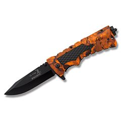 Elk Ridge Ballistic Survival Linerlock - Blaze Orange Camo