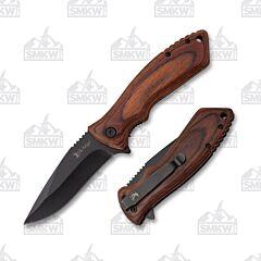 Elk Ridge Dark Brown Pakkawood Linerlock