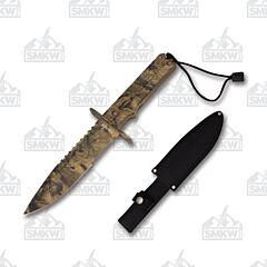 "Survivor 7"" Camo Fixed 440 Blade Nylon Fiber Handle"