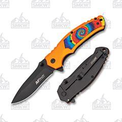 Master Cutlery MTech USA Tie Dye Orange