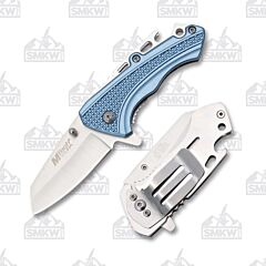 Master Cutlery MTech Spring Bottle Blue