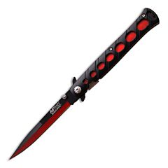 Master Cutlery MTech Stiletto Black and Red