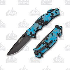 Master Cutlery Digital Camo Folder Blue