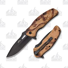 Master Cutlery Camo Folder Brown