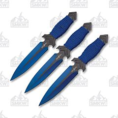 Master Cutlery Perfect Point Throwing Knife Set Blue