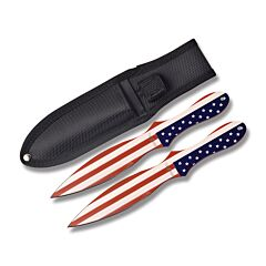 Master Cutlery Perfect Point American Flag Throwing Knife Set