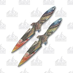 Master Cutlery Perfect Point Throwing Knife Set Dragon