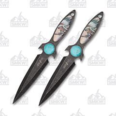Master Cutlery Perfect Point Throwing Knife Set Tribal